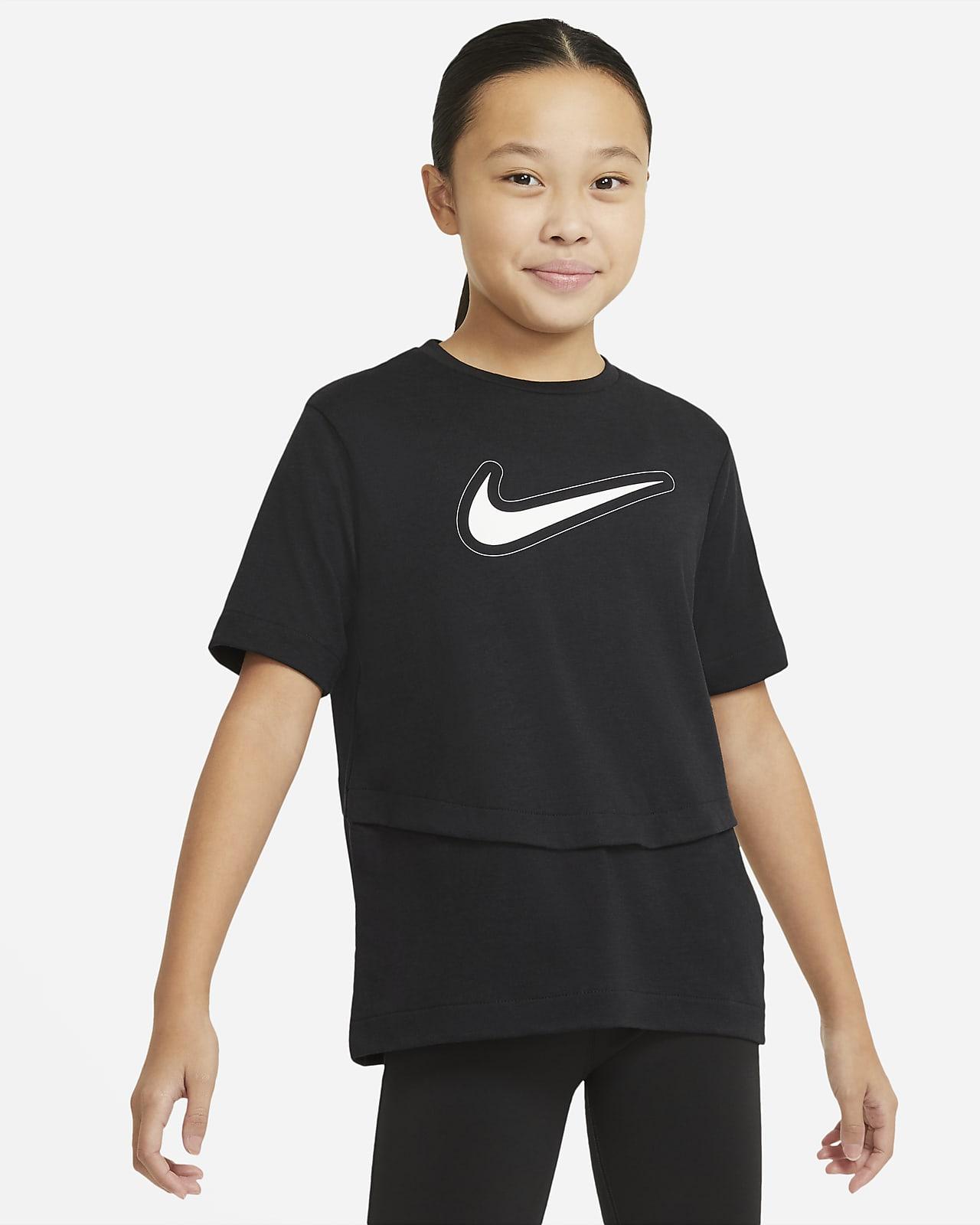 Nike Dri-FIT Trophy kortermet treningsoverdel for store barn (jente)