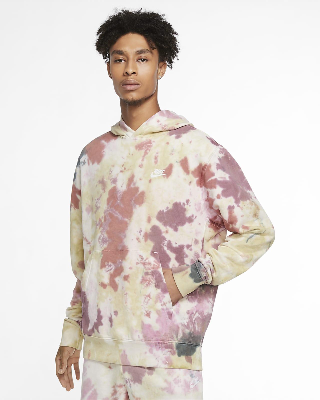 Bluza z kapturem barwiona metodą Tie Dye Nike Sportswear