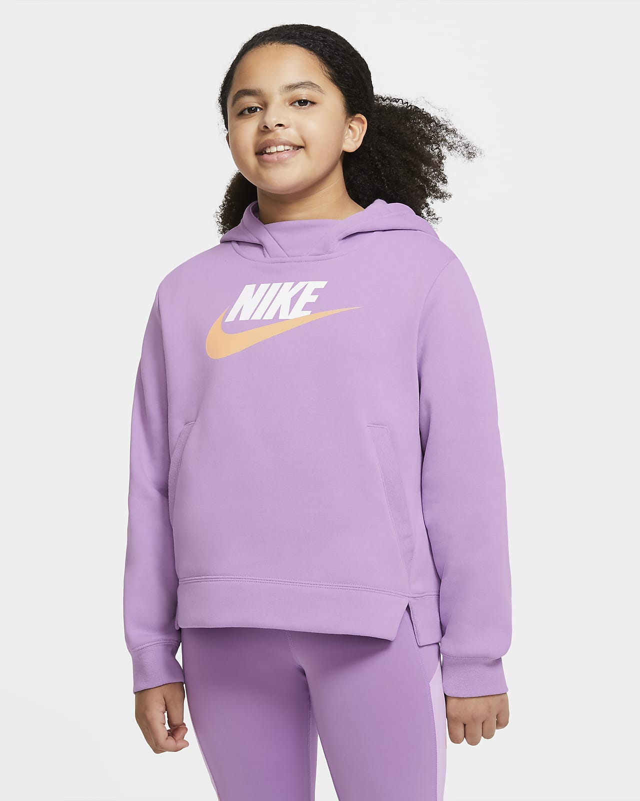Nike Sportswear Older Kids' (Girls') Pullover Hoodie (Extended Size)