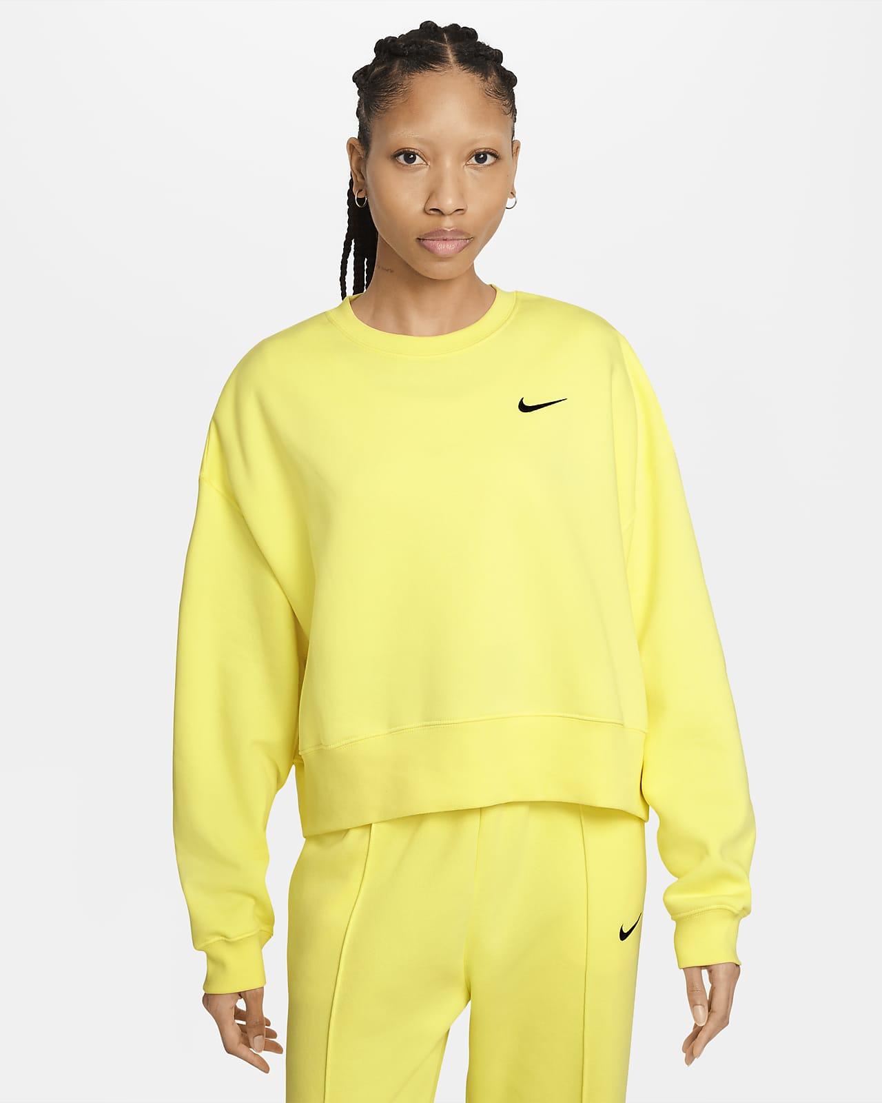 Женская укороченная флисовая футболка Nike Sportswear