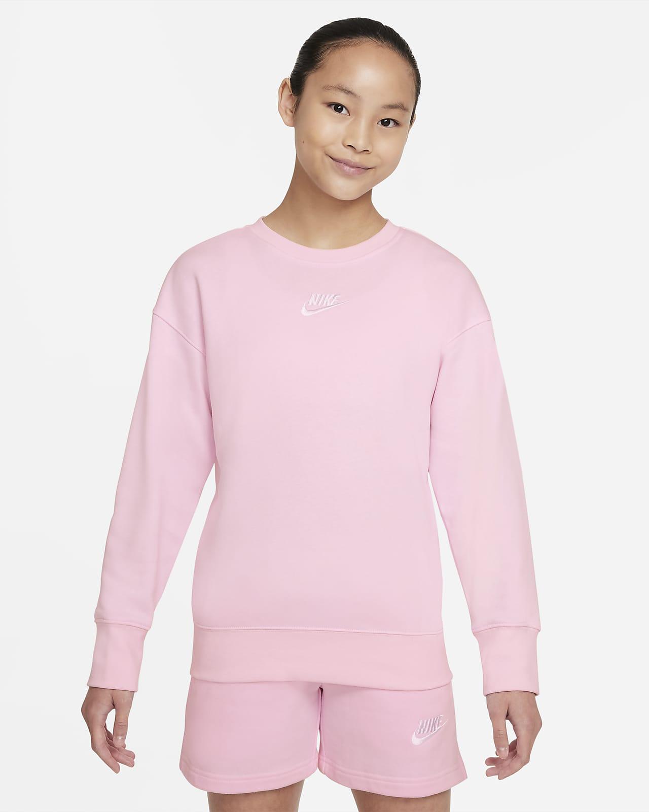 Mikina Nike Sportswear Club Fleece skulatým výstřihem pro větší děti (dívky)