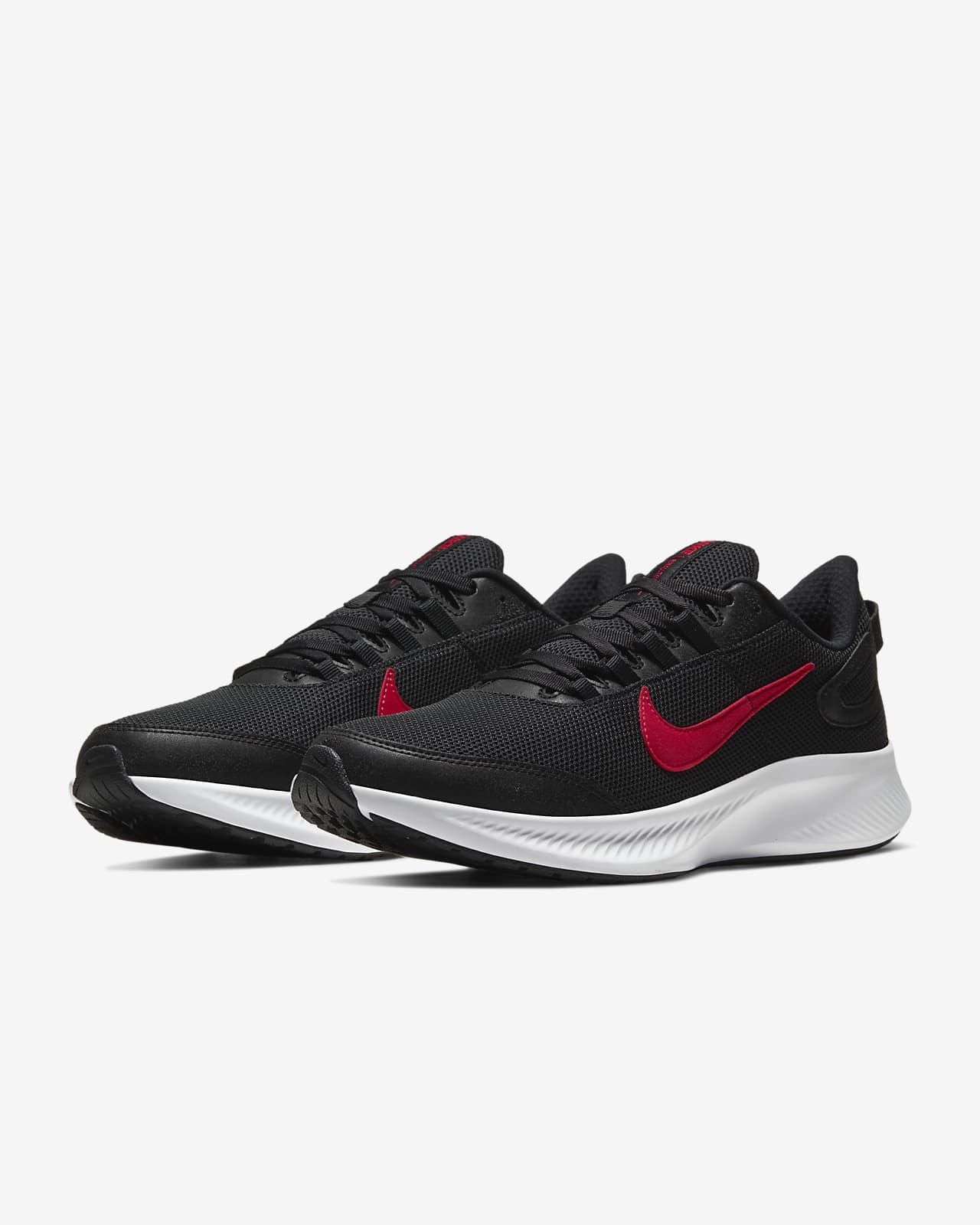 all black nike running shoes mens