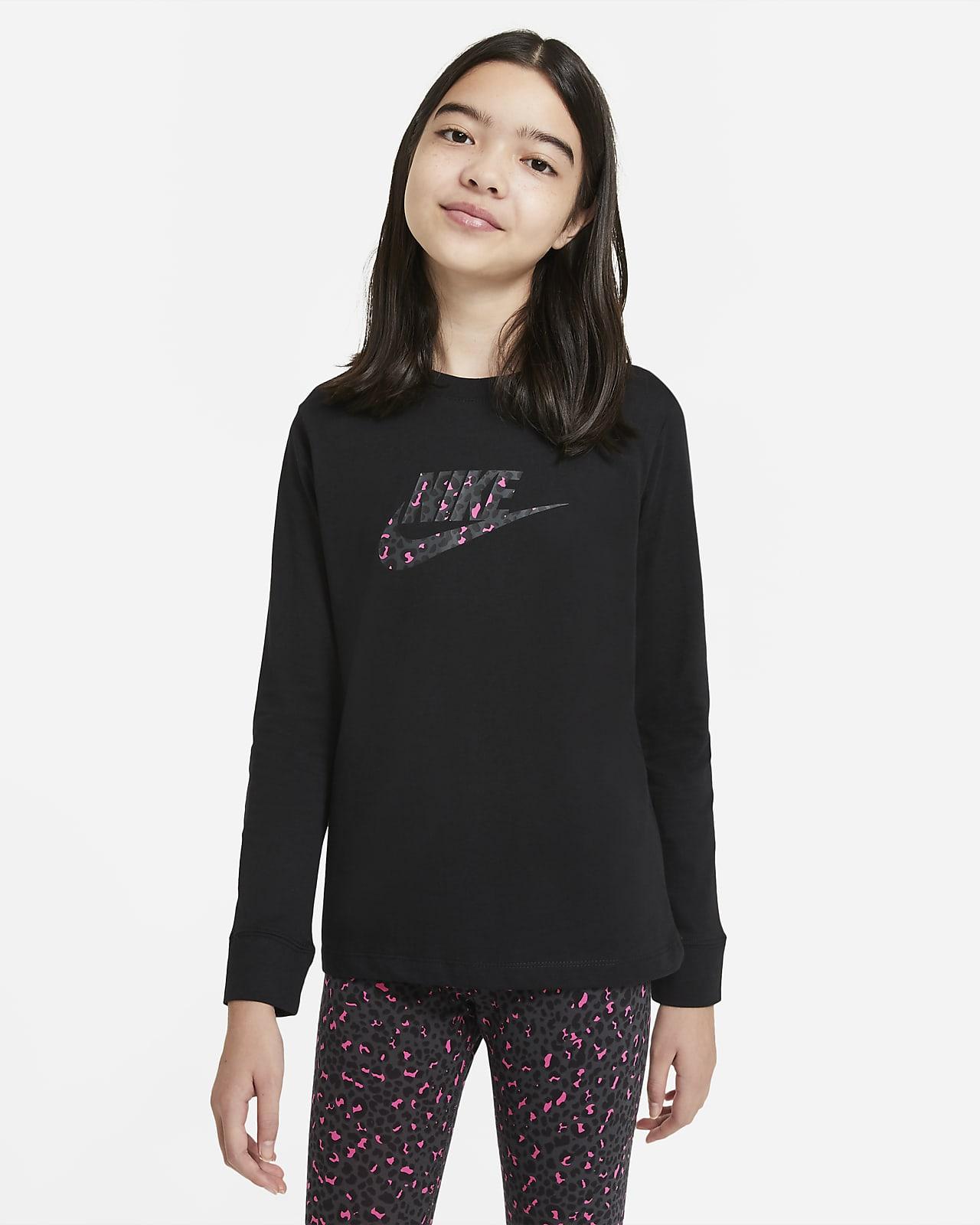 Nike Sportswear Older Kids' (Girls') Long-Sleeve T-Shirt