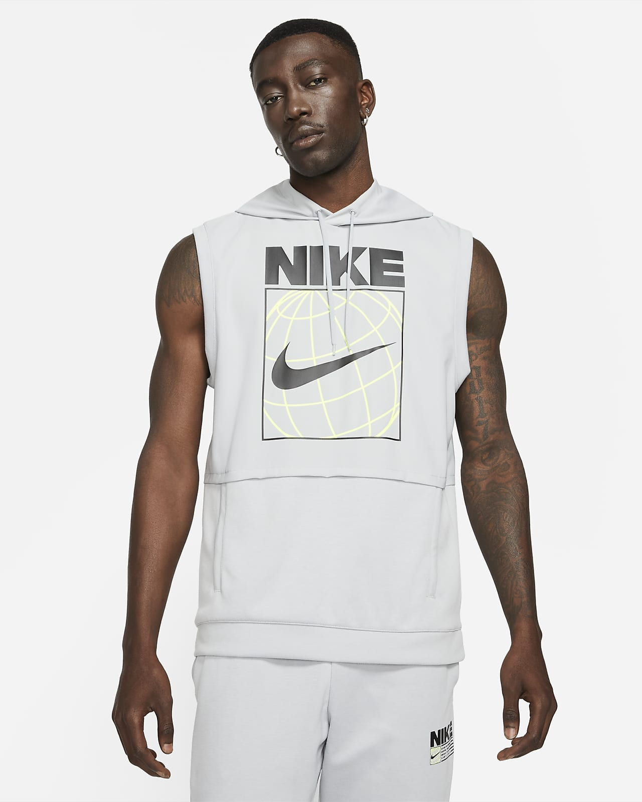 Nike Dri-FIT Men's Sleeveless Graphic Training Hoodie