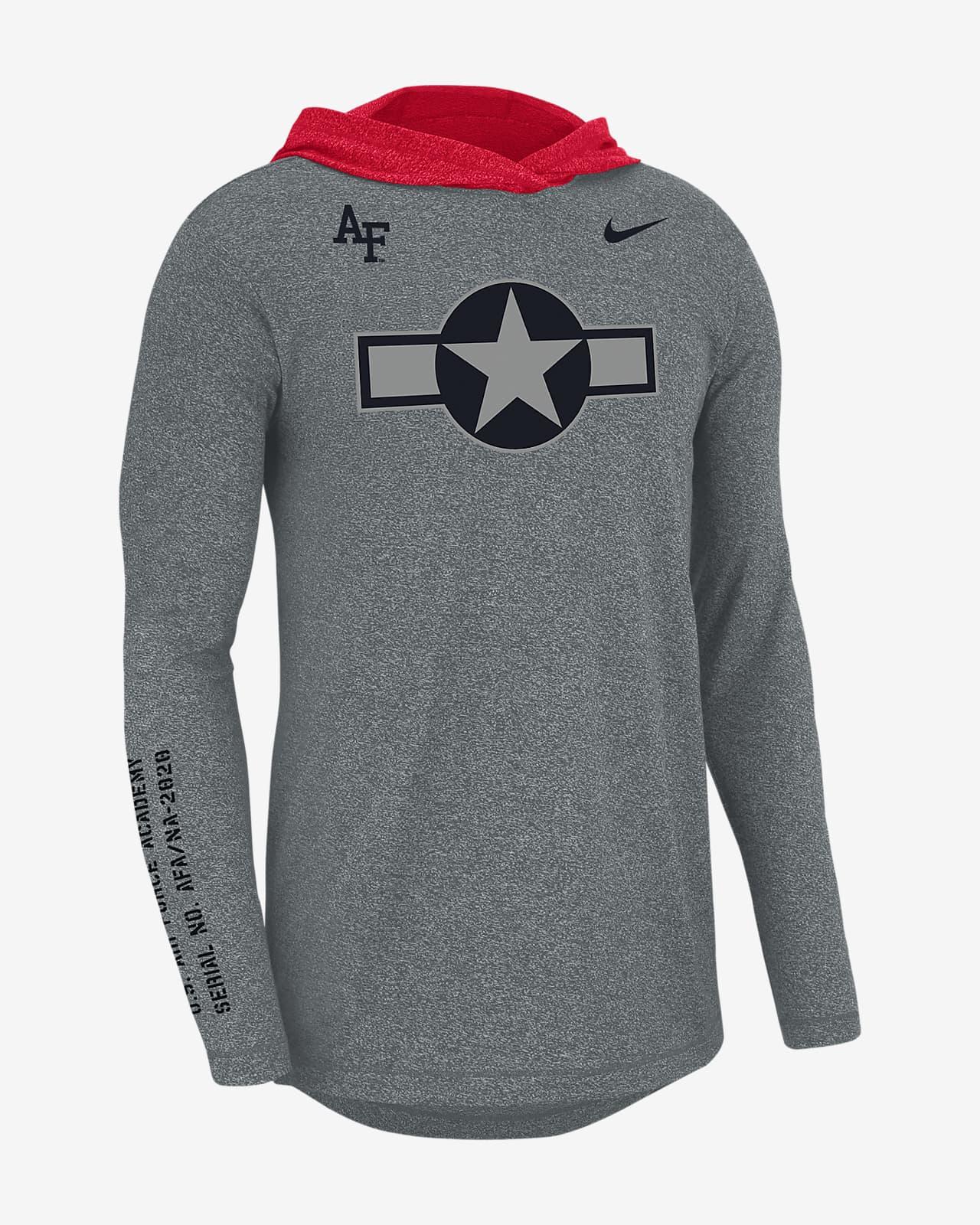 Nike College (Air Force) Men's Long-Sleeve Marled Hoodie T-Shirt