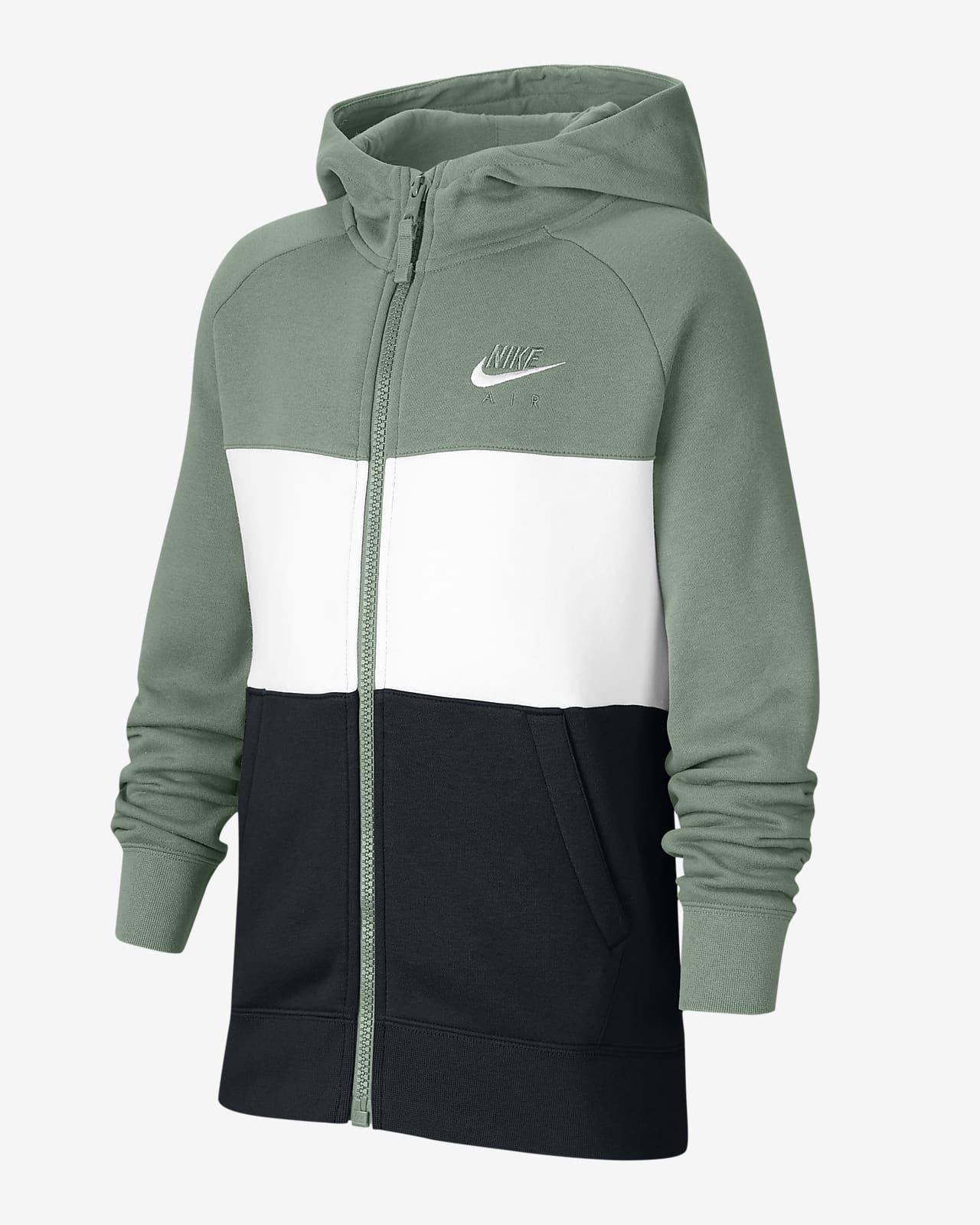 Huvtröja Nike Air med hel dragkedja för ungdom (killar). Nike SE