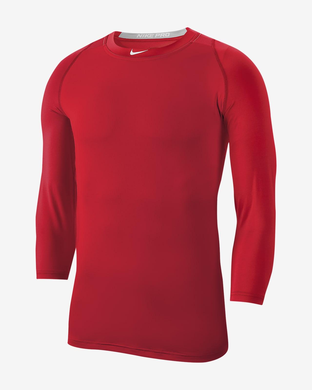 lineal modo tormenta  Nike Pro Men's 3/4 Sleeve Baseball Top. Nike.com