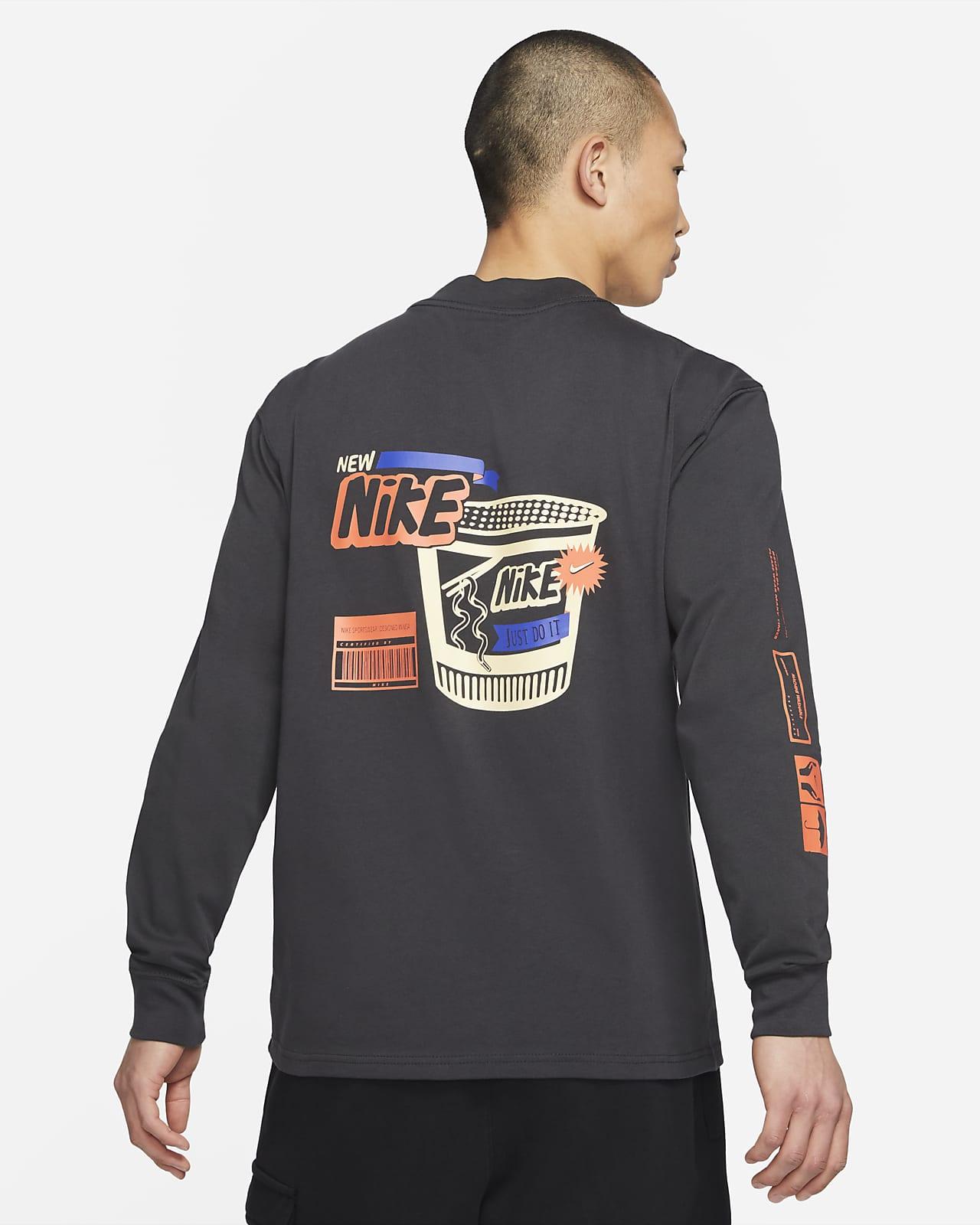 Nike Sportswear Men's Long-Sleeve Mock Neck T-Shirt