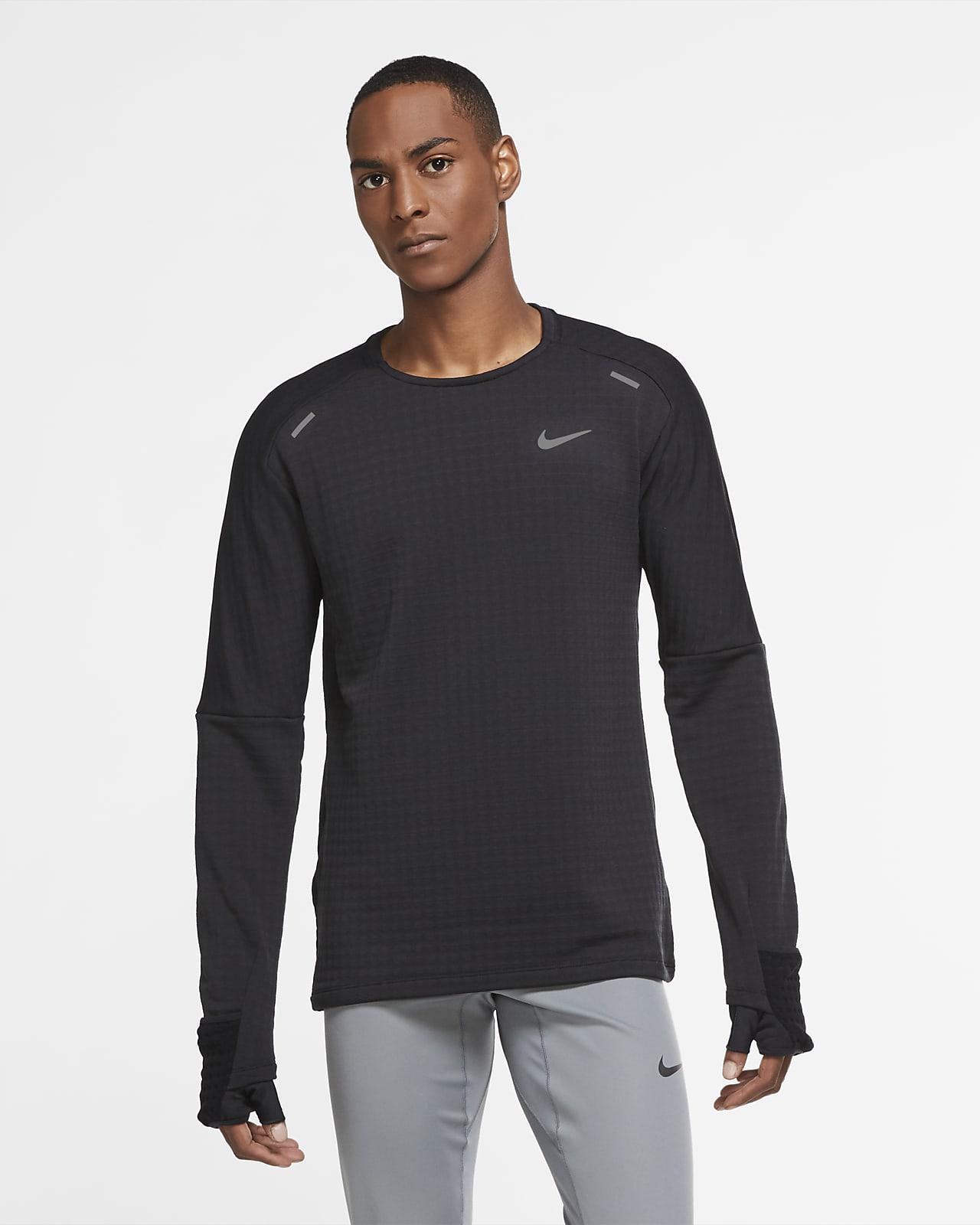 Męska bluza do biegania z półokrągłym dekoltem Nike Sphere