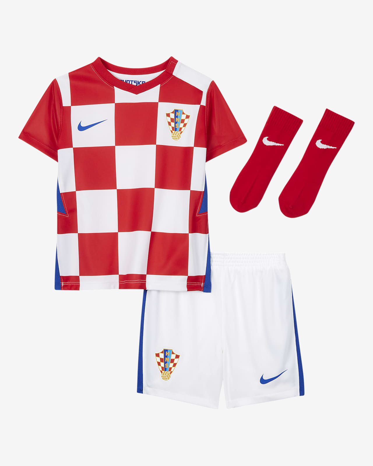 Croatia 2020 Home Baby and Toddler Football Kit