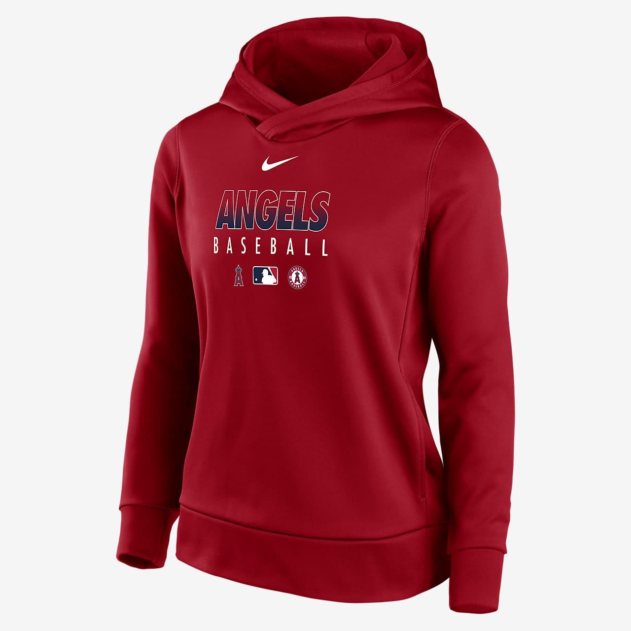 Nike Therma (MLB Los Angeles Angels) Women's Pullover Hoodie