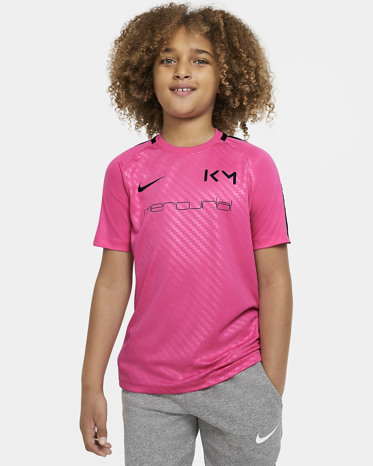 Koszulka piłkarska z krótkim rękawem dla dużych dzieci Nike Dri-FIT Kylian Mbappé