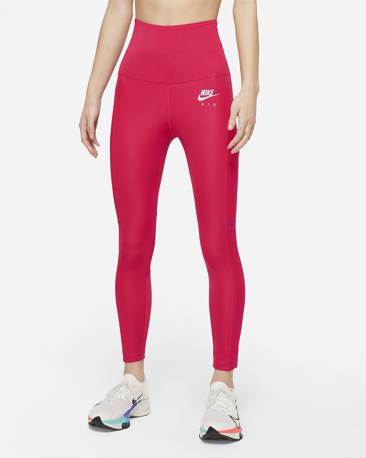 เลกกิ้งวิ่งขอบเอวพับทบ 7/8 ส่วนผู้หญิง Nike Air Dri-FIT