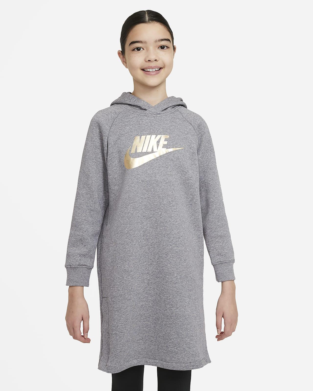 Nike Sportswear-hættekjole til store børn (piger)