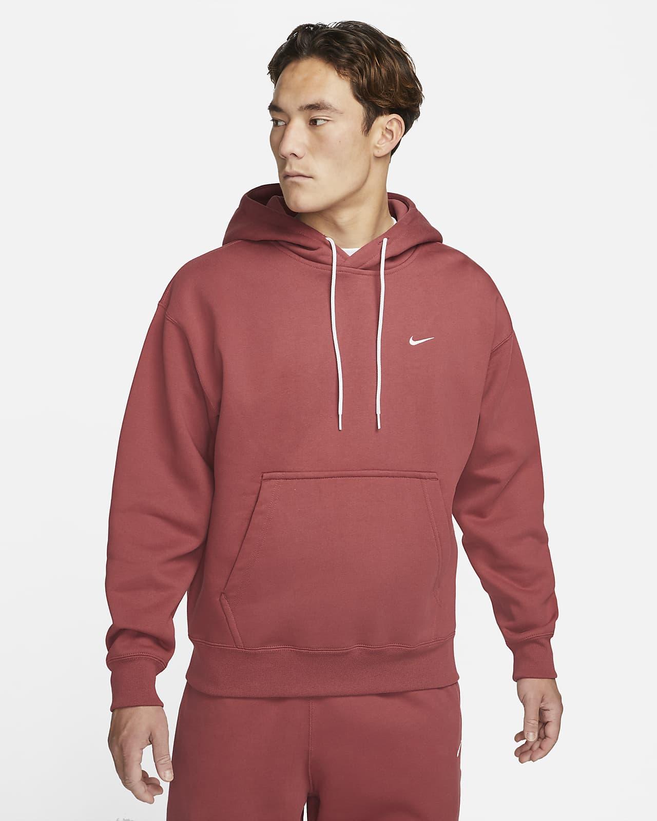 เสื้อมีฮู้ดผ้าฟลีซผู้ชาย Nike Solo Swoosh
