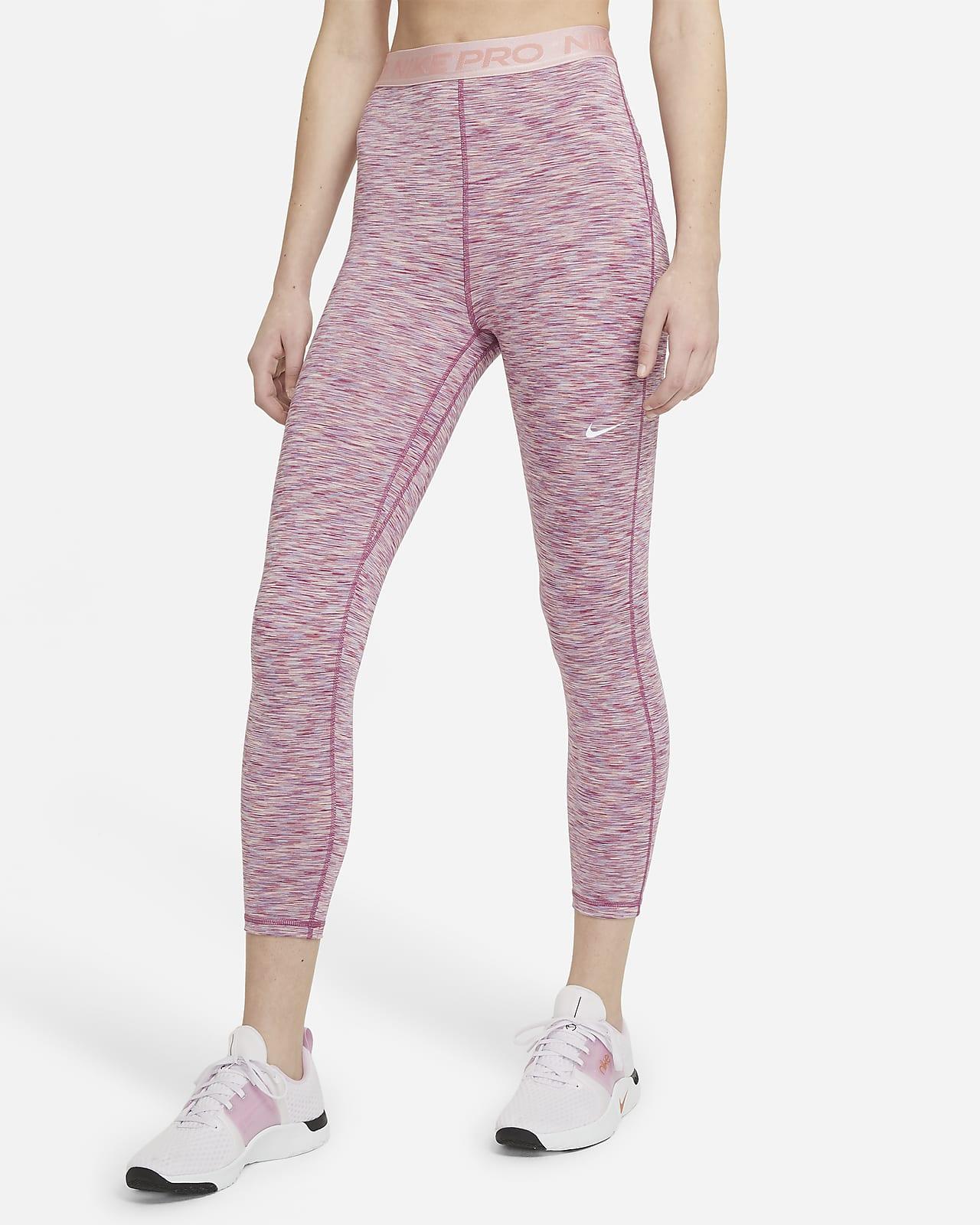 Legging court taille haute à motif space-dye Nike Pro pour Femme