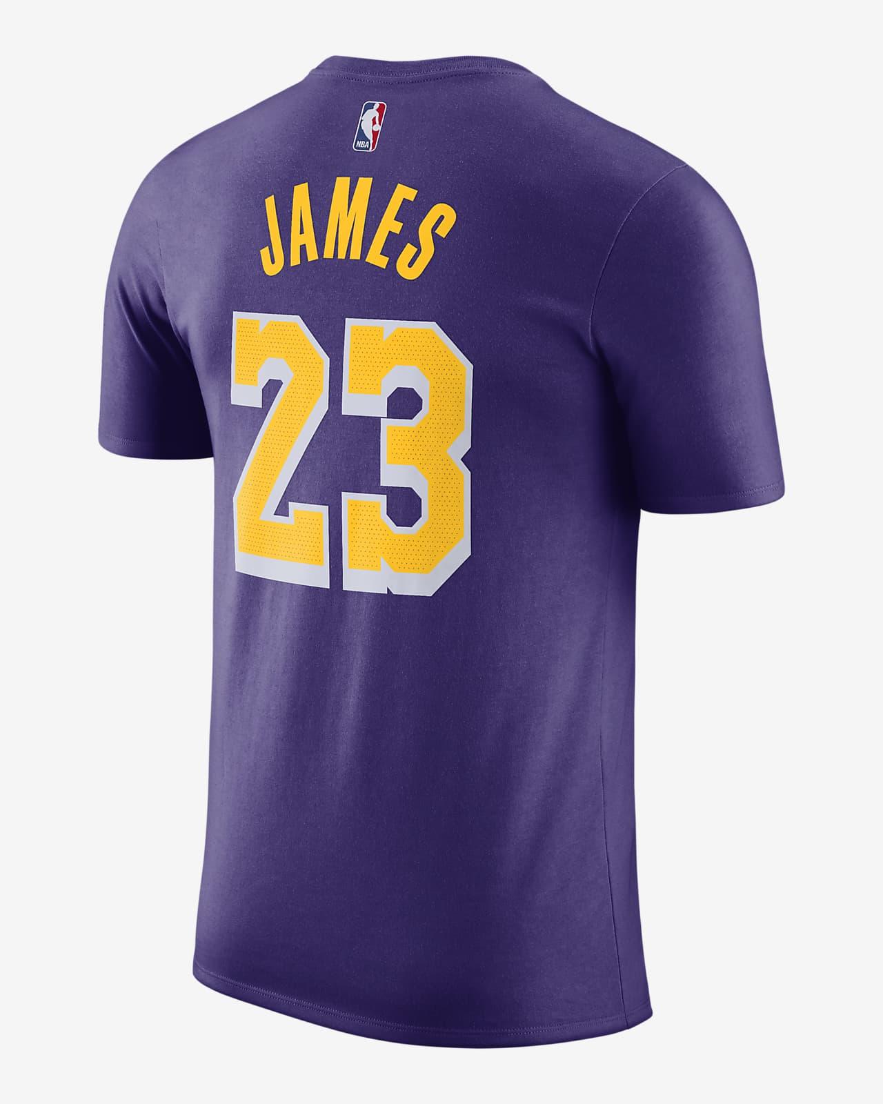 LeBron James Lakers Statement Edition Men's Jordan NBA T-Shirt ...