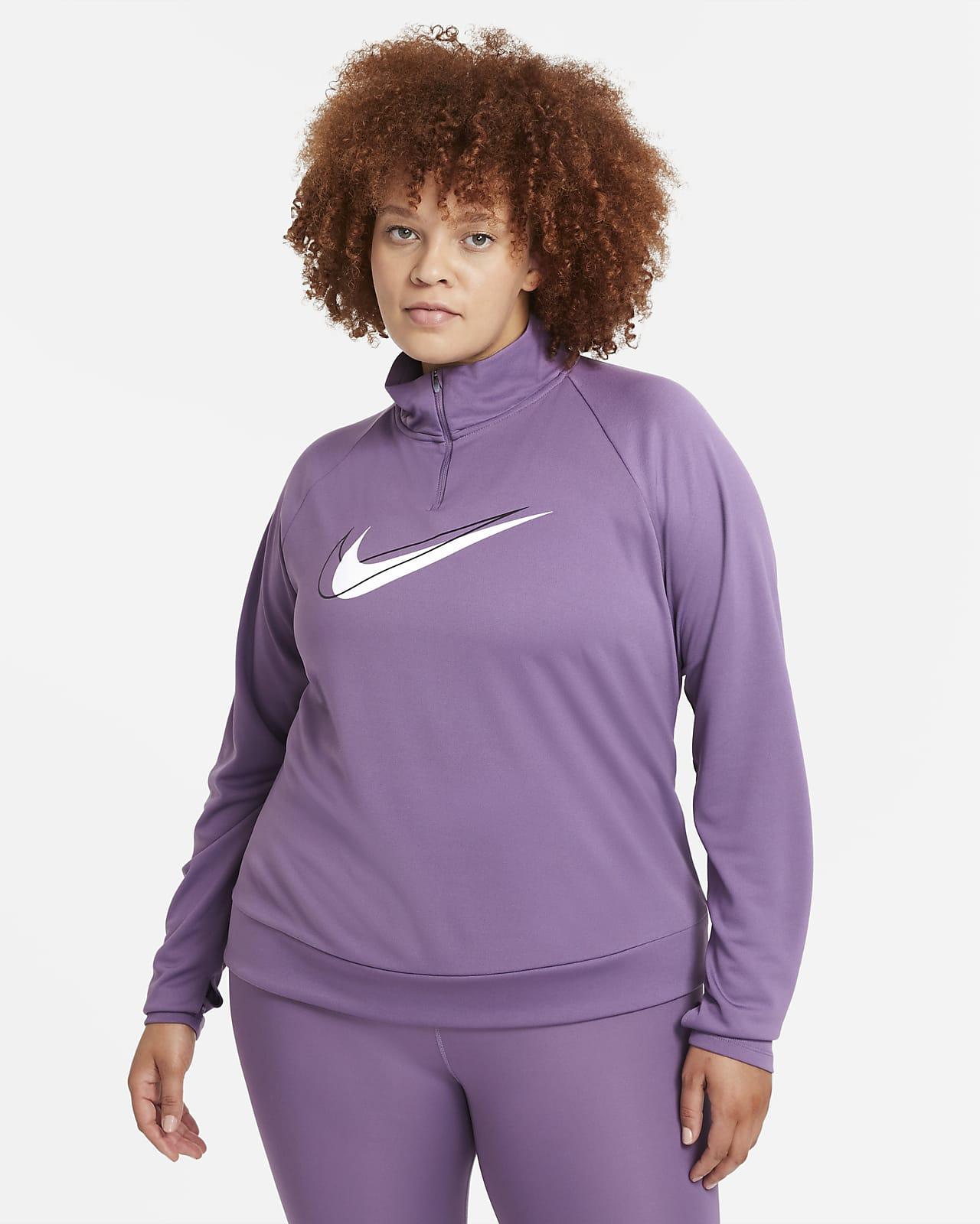 Nike Dri-FIT Swoosh Run Women's 1/2-Zip Running Midlayer (Plus Size)