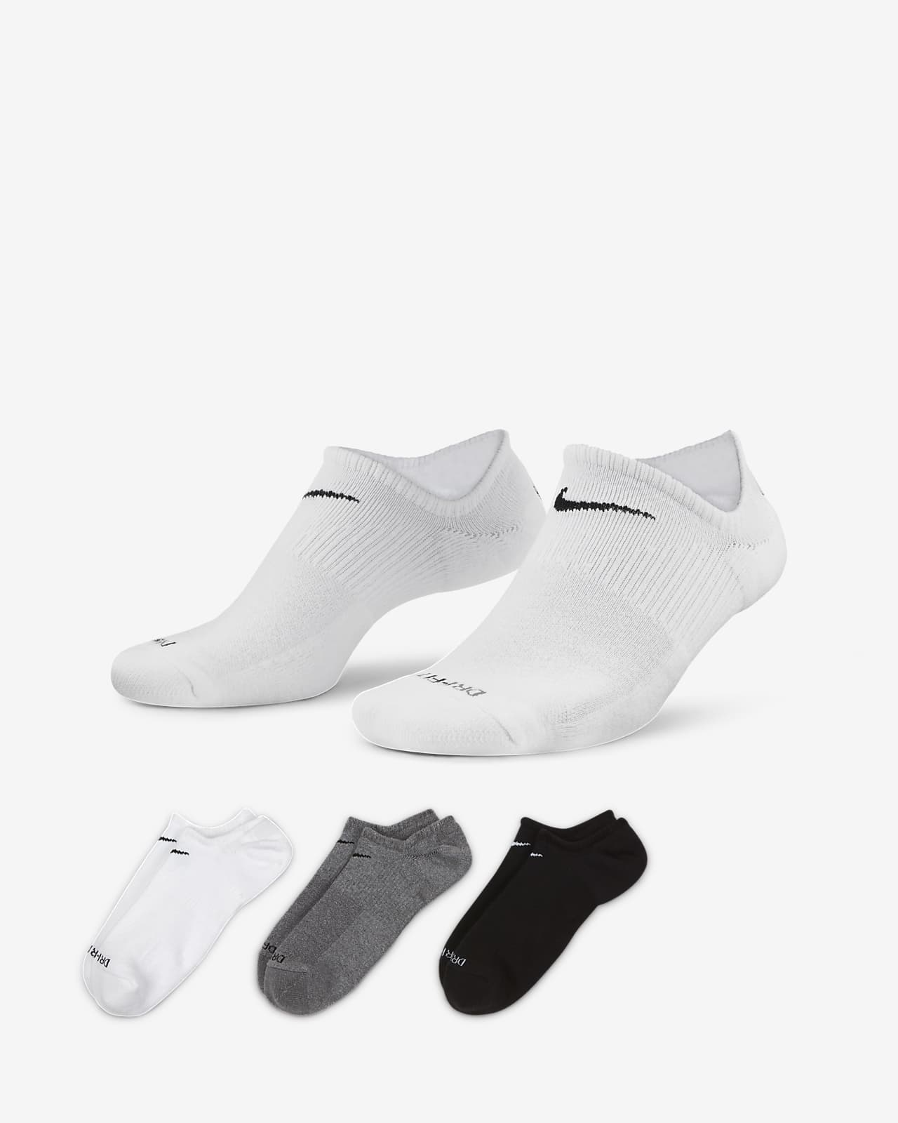 Calcetines invisibles de entrenamiento (3 pares) Nike Everyday Plus Cushioned