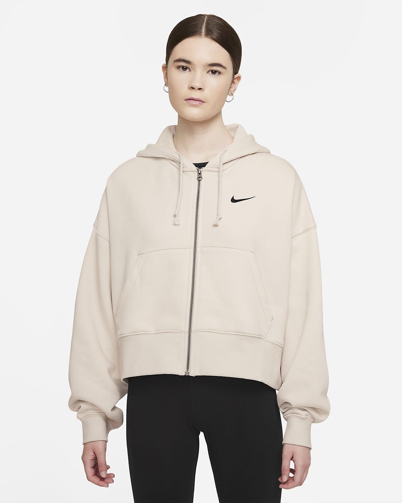 Damska dzianinowa bluza z kapturem i zamkiem na całej długości Nike Sportswear Essential