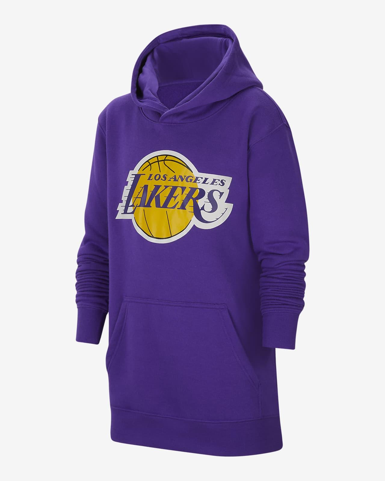 Bluza z kapturem dla dużych dzieci Nike NBA Los Angeles Lakers Essential