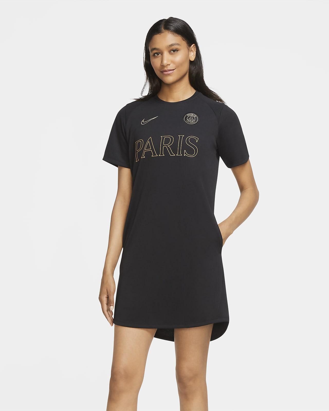 Vestido de futebol de malha Jersey Paris Saint-Germain para mulher