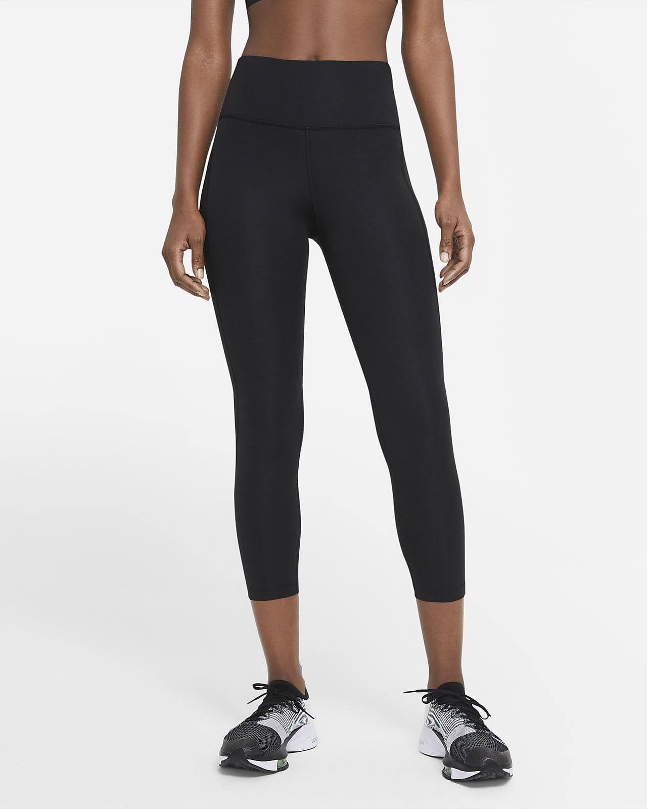 Legging de running court à taille mi-haute Nike Fast pour Femme