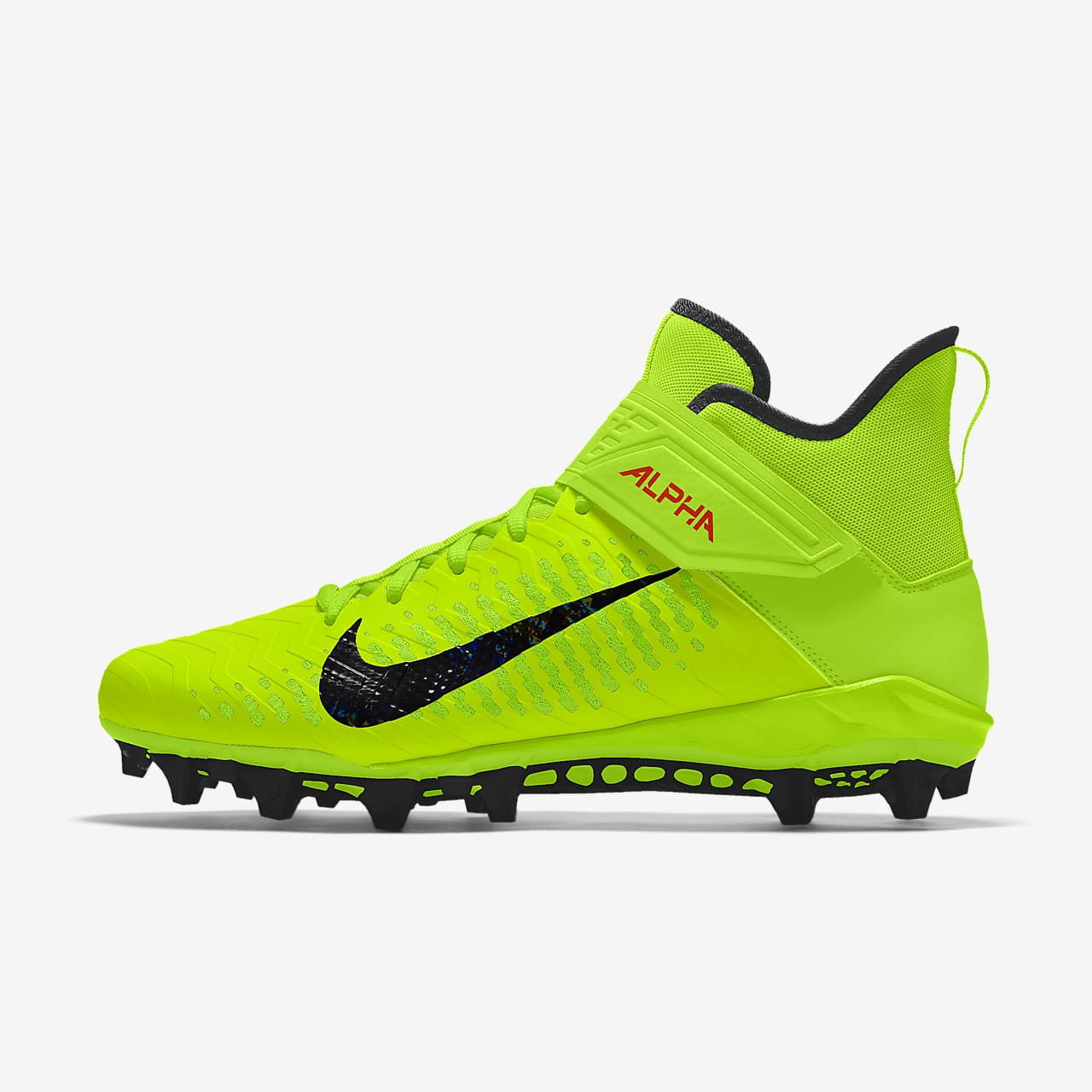 Tacos de fútbol para hombre Nike Alpha Menace Pro 2 Mid By You Custom