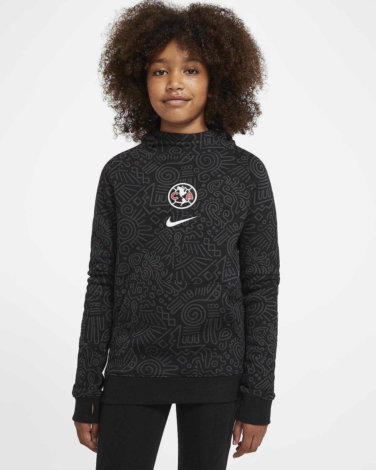 Hoodie pullover de futebol de lã cardada Club América Júnior