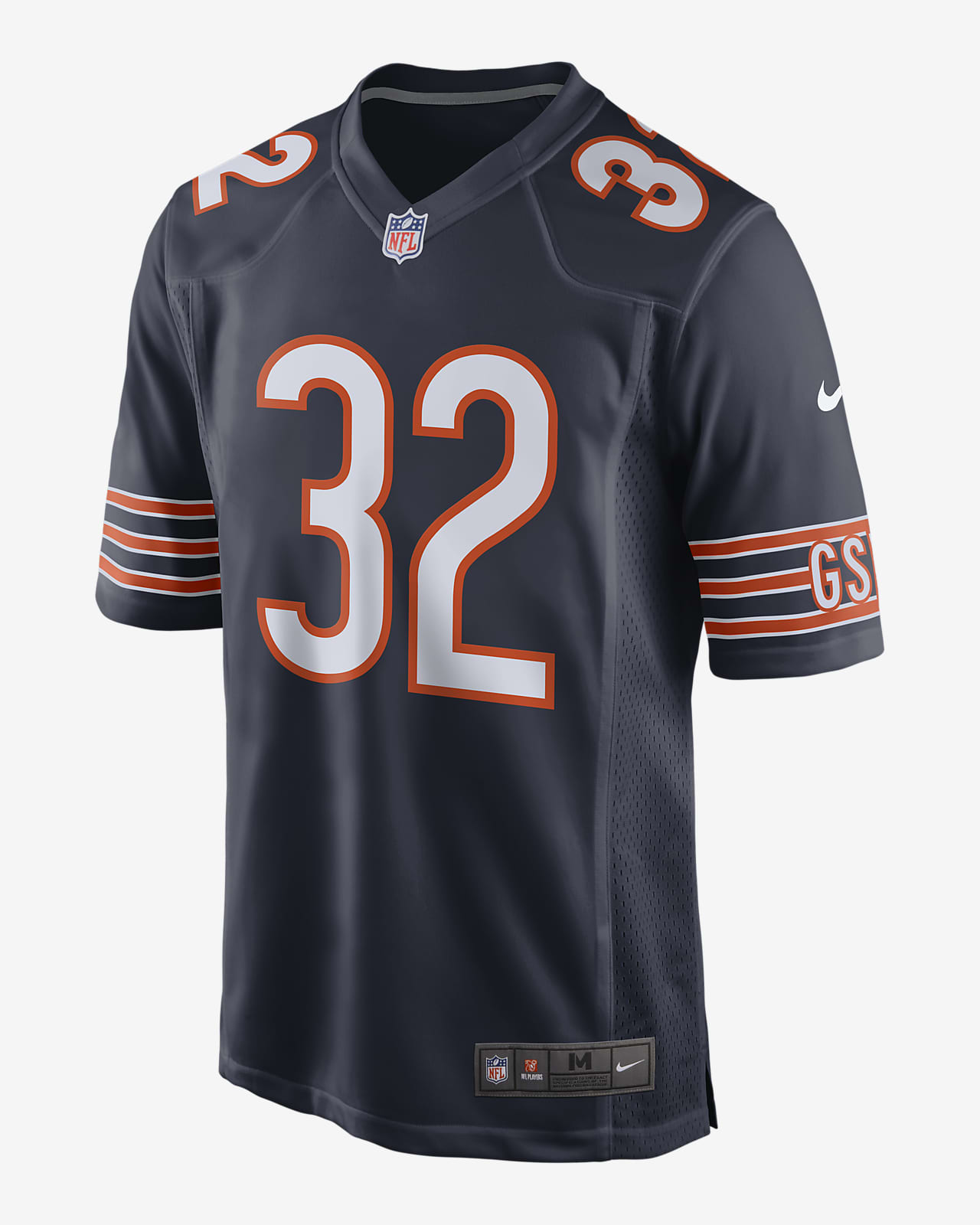 NFL Chicago Bears (David Montgomery) Men's Game Football Jersey