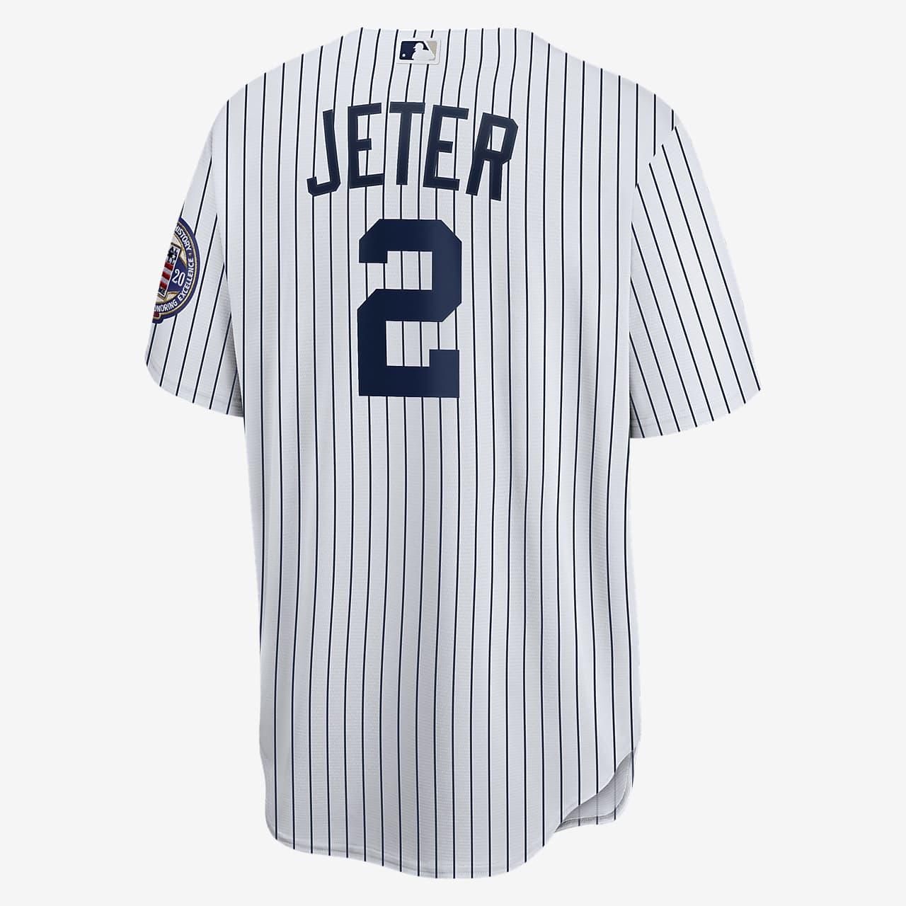 nombre Corchete Ejemplo  Camiseta de béisbol Replica para hombre MLB New York Yankees (Derek Jeter).  Nike.com