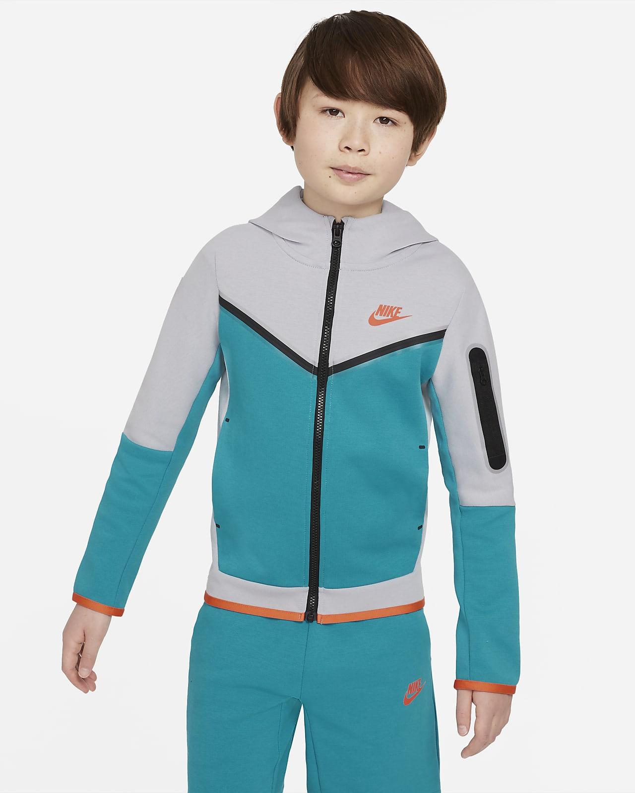 Nike Sportswear Tech Fleece hosszú cipzáras, kapucnis pulóver nagyobb gyerekeknek (fiúknak)