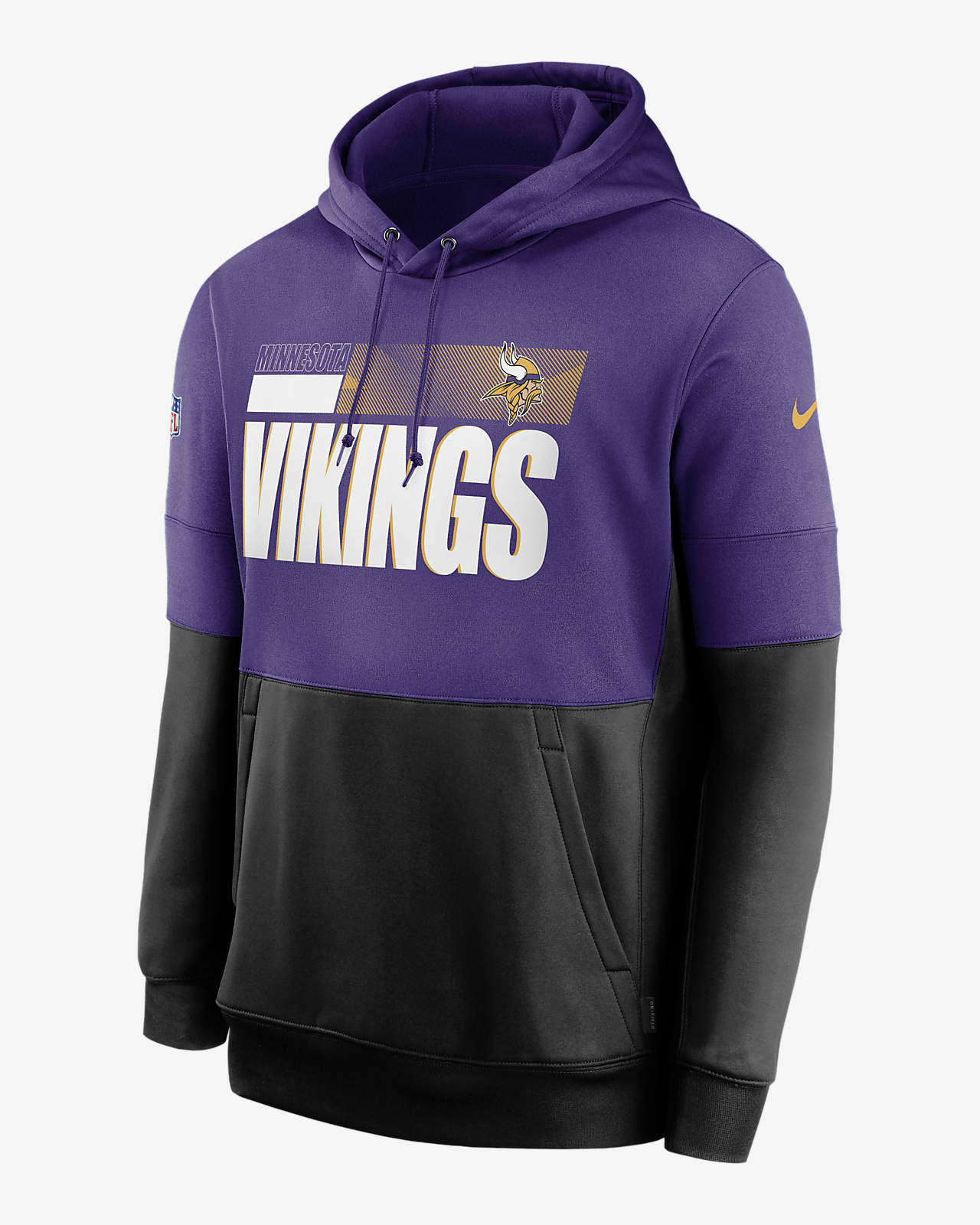 Nike Therma Team Name Lockup (NFL Minnesota Vikings) Men's Pullover Hoodie
