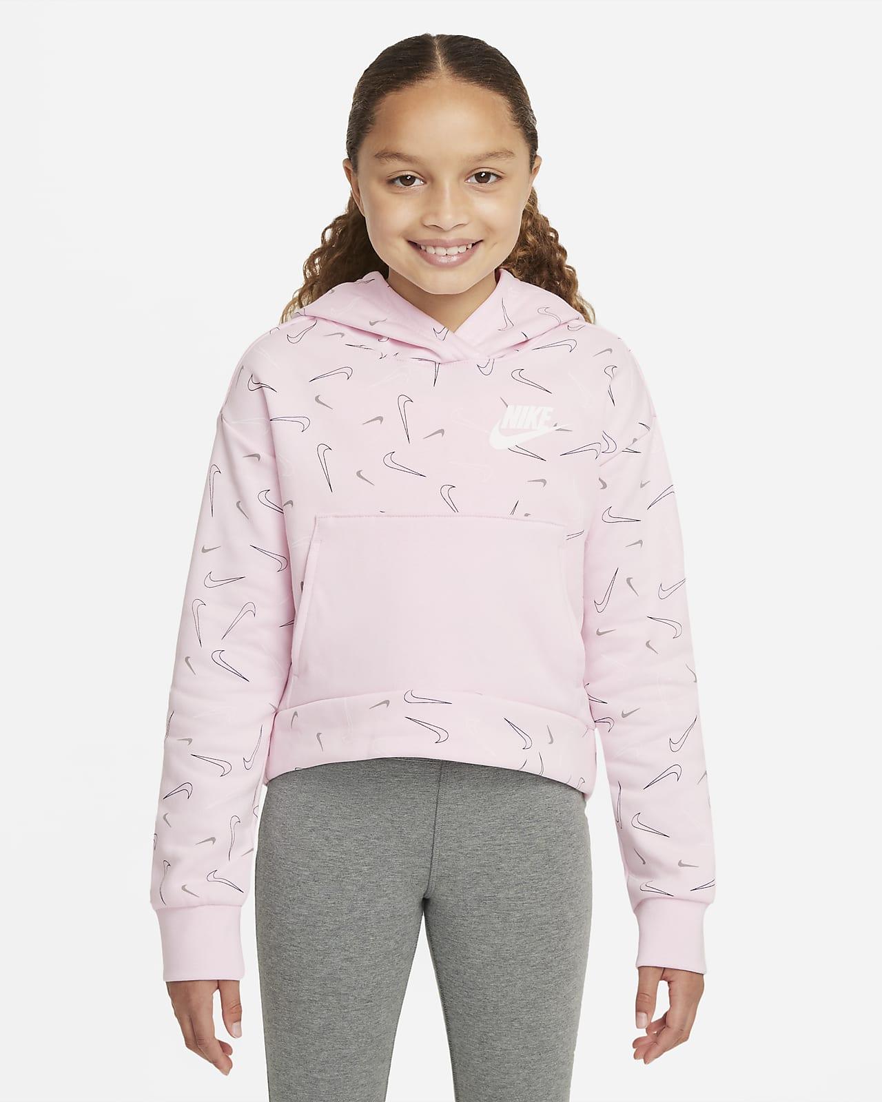 Nike Sportswear Older Kids' (Girls') Printed Fleece Hoodie
