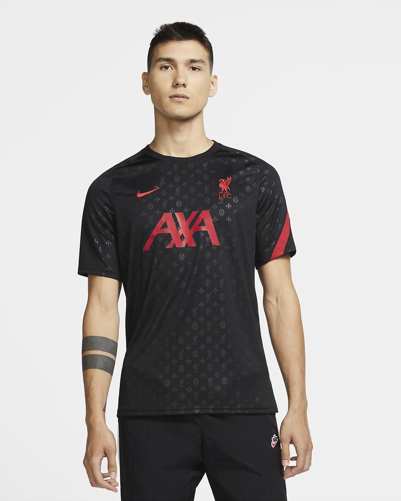 Prenda para la parte superior de fútbol de manga corta para antes del partido para hombre del Liverpool FC