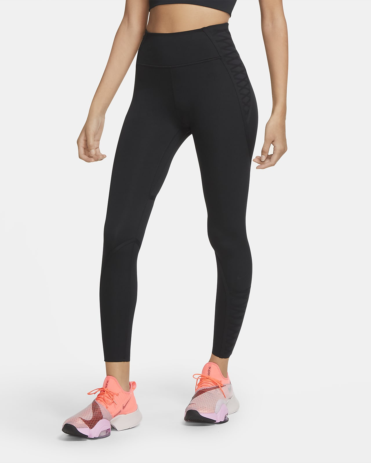 Nike One Luxe 7/8-Leggings mit Spitze für Damen