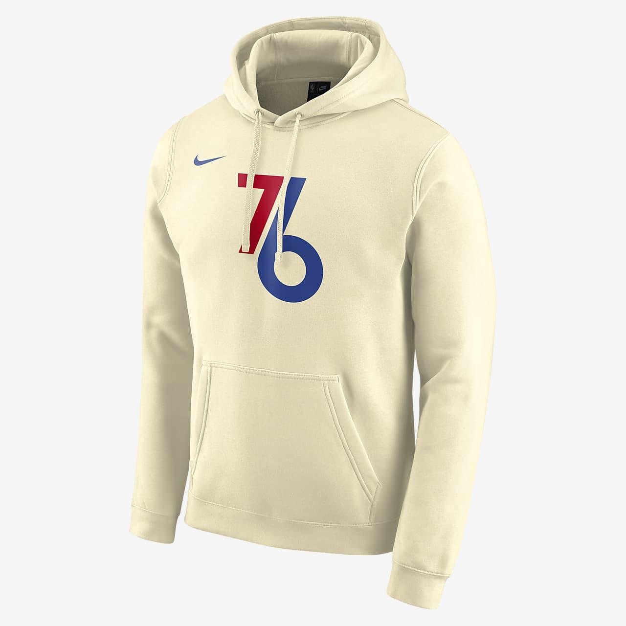 费城 76 人队 City Edition Logo Nike NBA 男子连帽衫