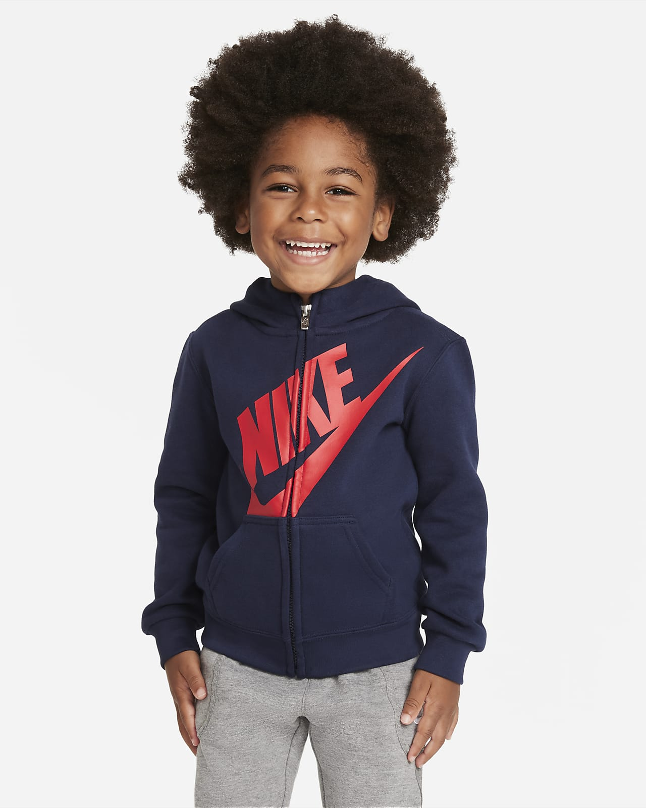 Nike 婴童全长拉链开襟连帽衫
