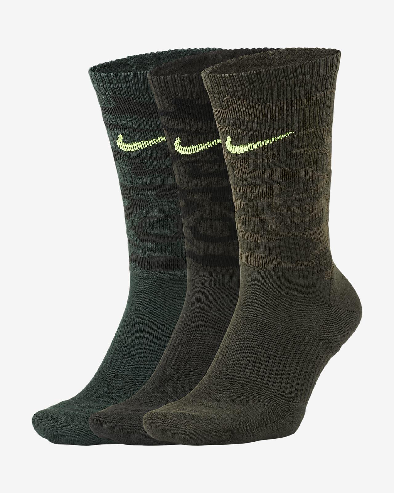 Nike Everyday Plus Cushioned Crew Antrenman Çorapları (3 Çift)