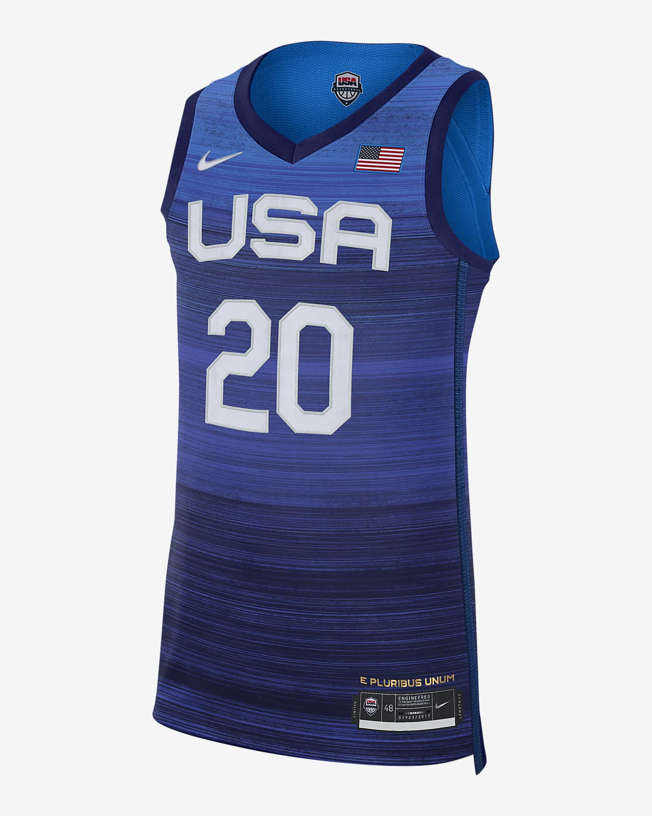 USA (Road) Authentic Men's Nike Basketball Jersey