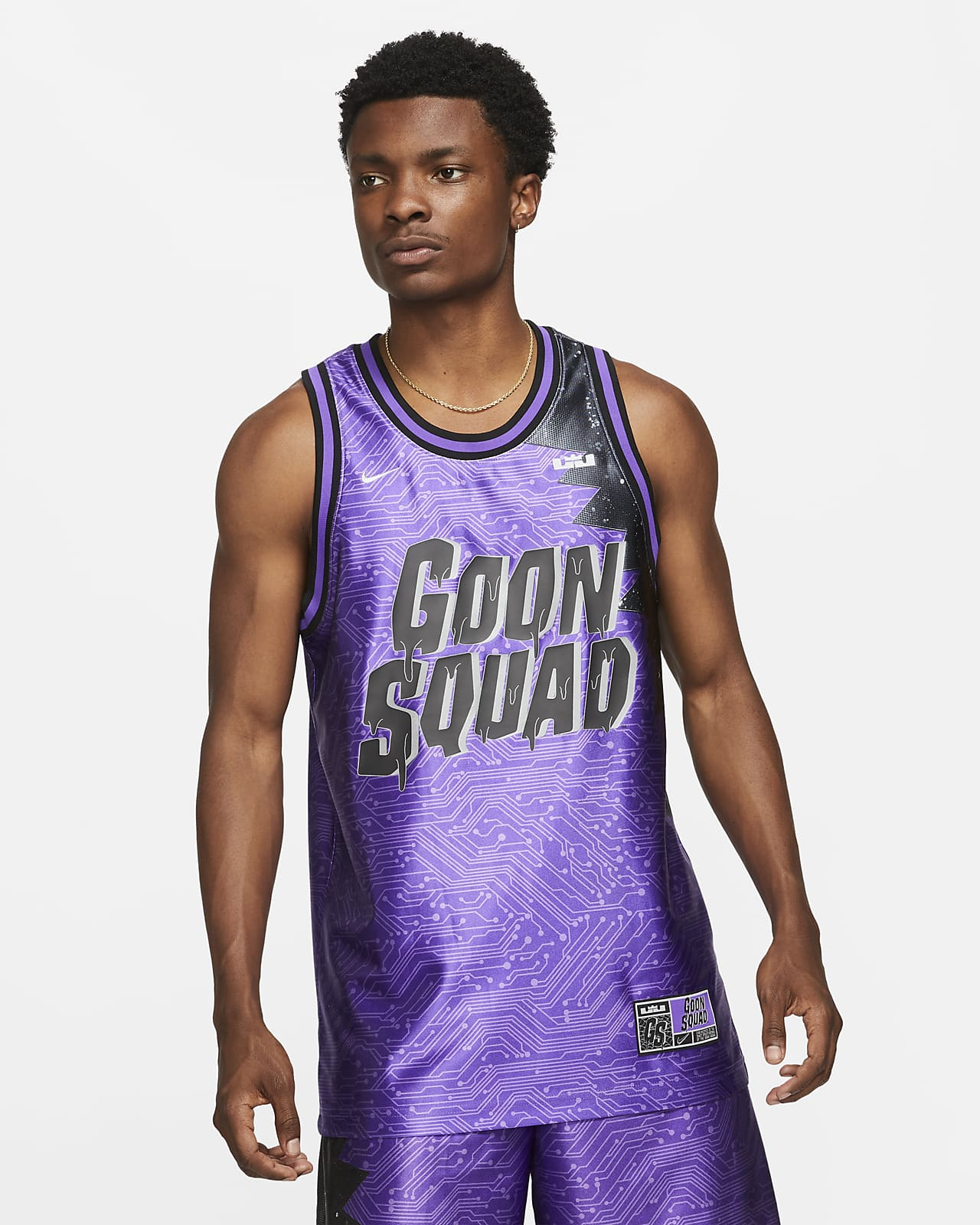 "LeBron x Space Jam: A New Legacy ""Goon Squad"" Nike Dri-FIT Erkek Forması"