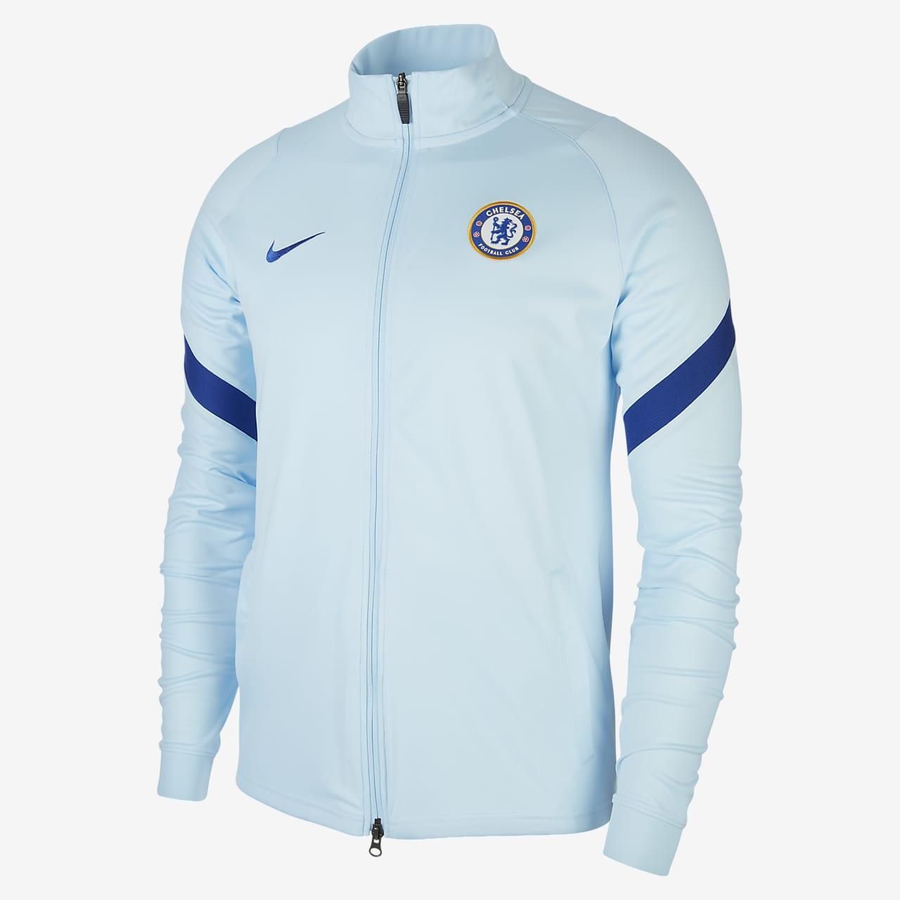Chelsea FC Strike strikket fotballtreningsjakke til herre