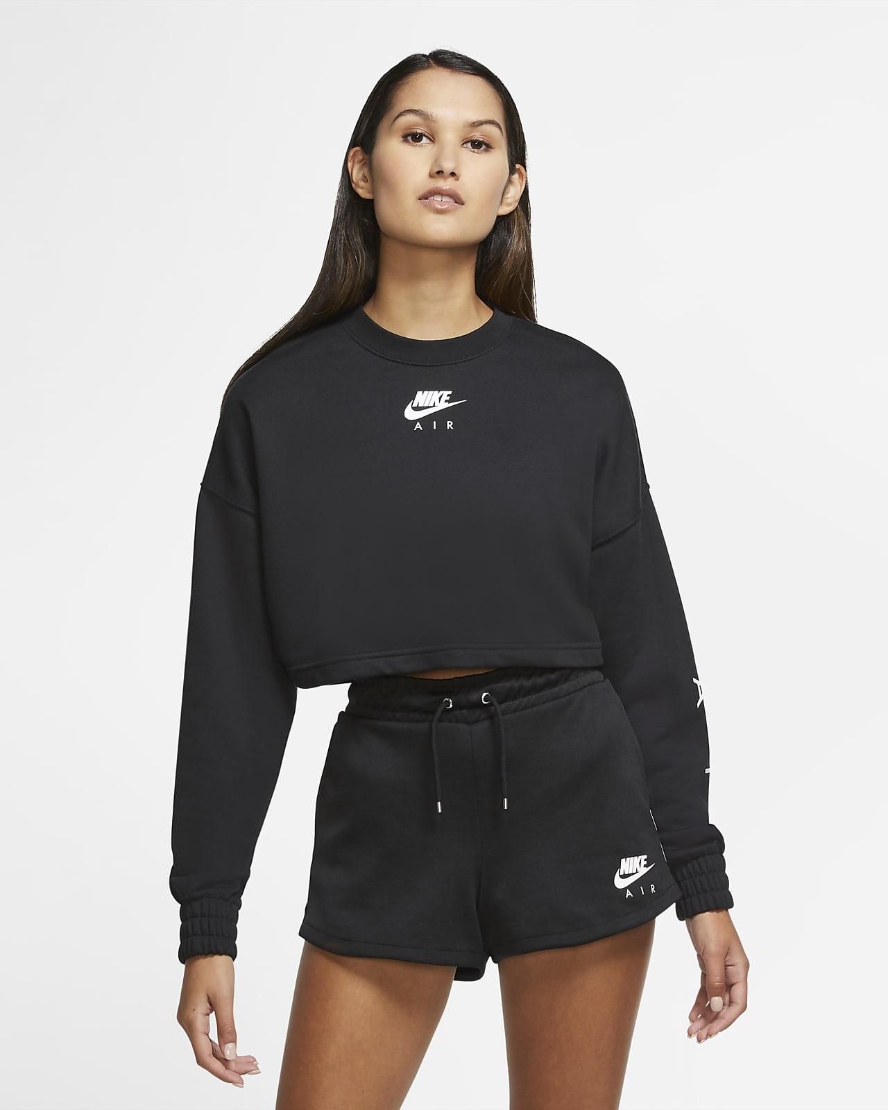 Nike Air kerek nyakkivágású, rövid szabású női polárpulóver