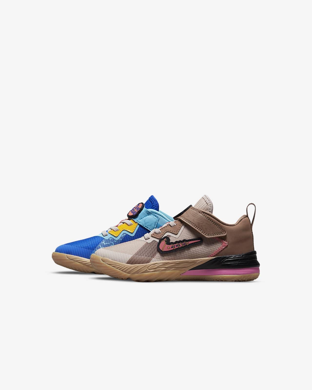 LeBron 18 Low 'Wile E. vs Roadrunner' Little Kids' Shoes