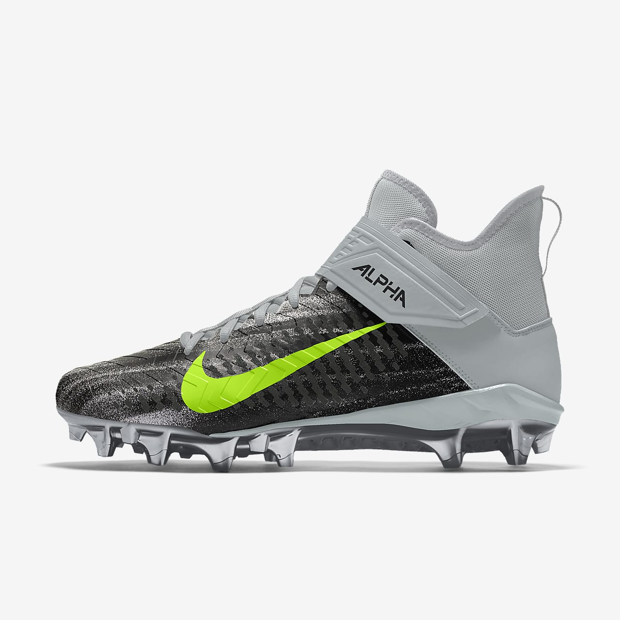 Nike Alpha Menace Pro 2 Mid By You Custom Men's American Football Boot