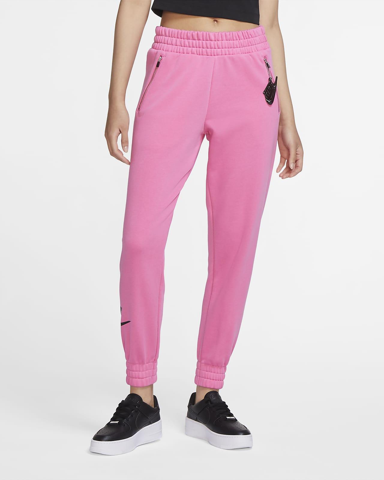 Женские слегка укороченные флисовые брюки Nike Sportswear