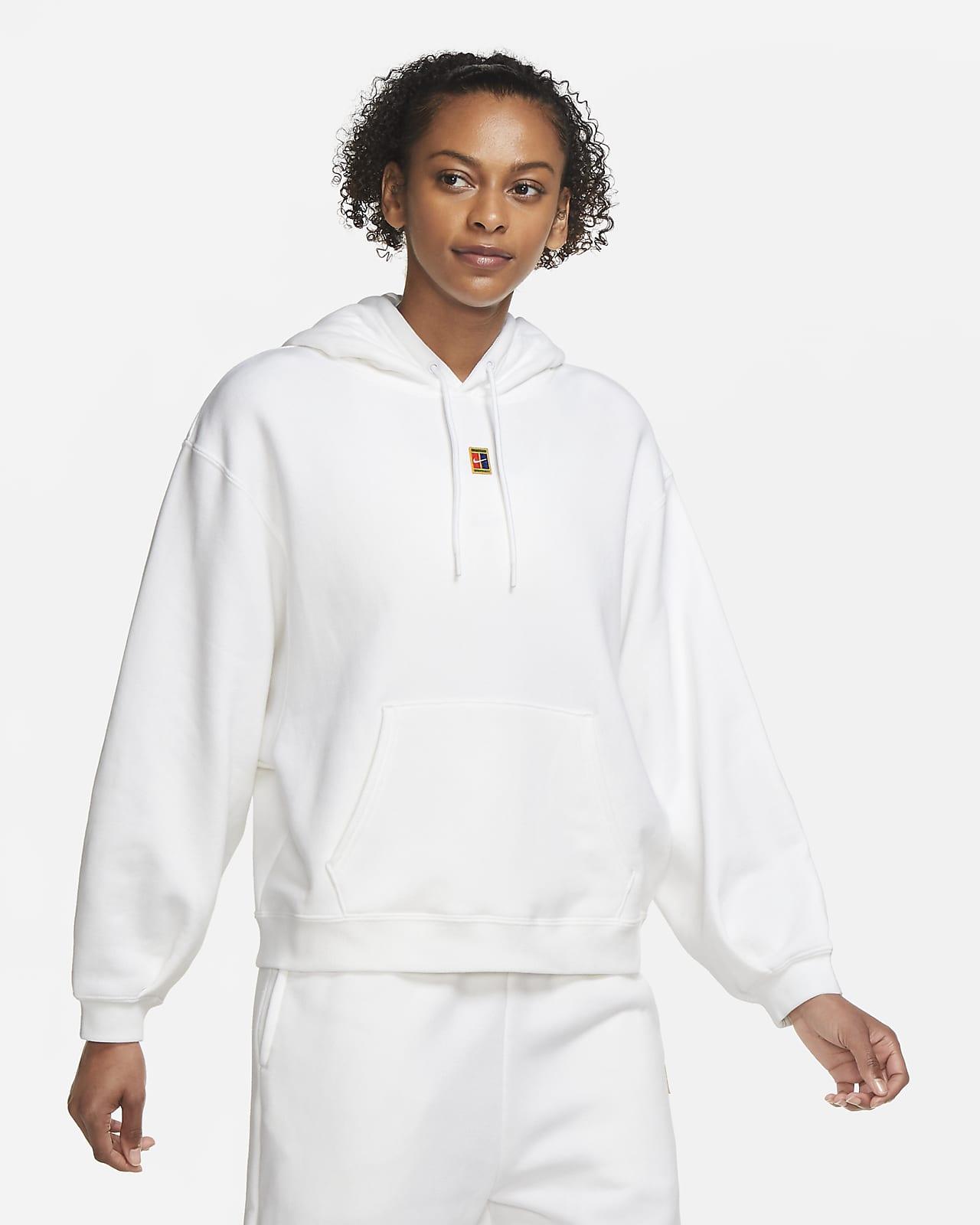 Tennishuvtröja NikeCourt i fleece för kvinnor