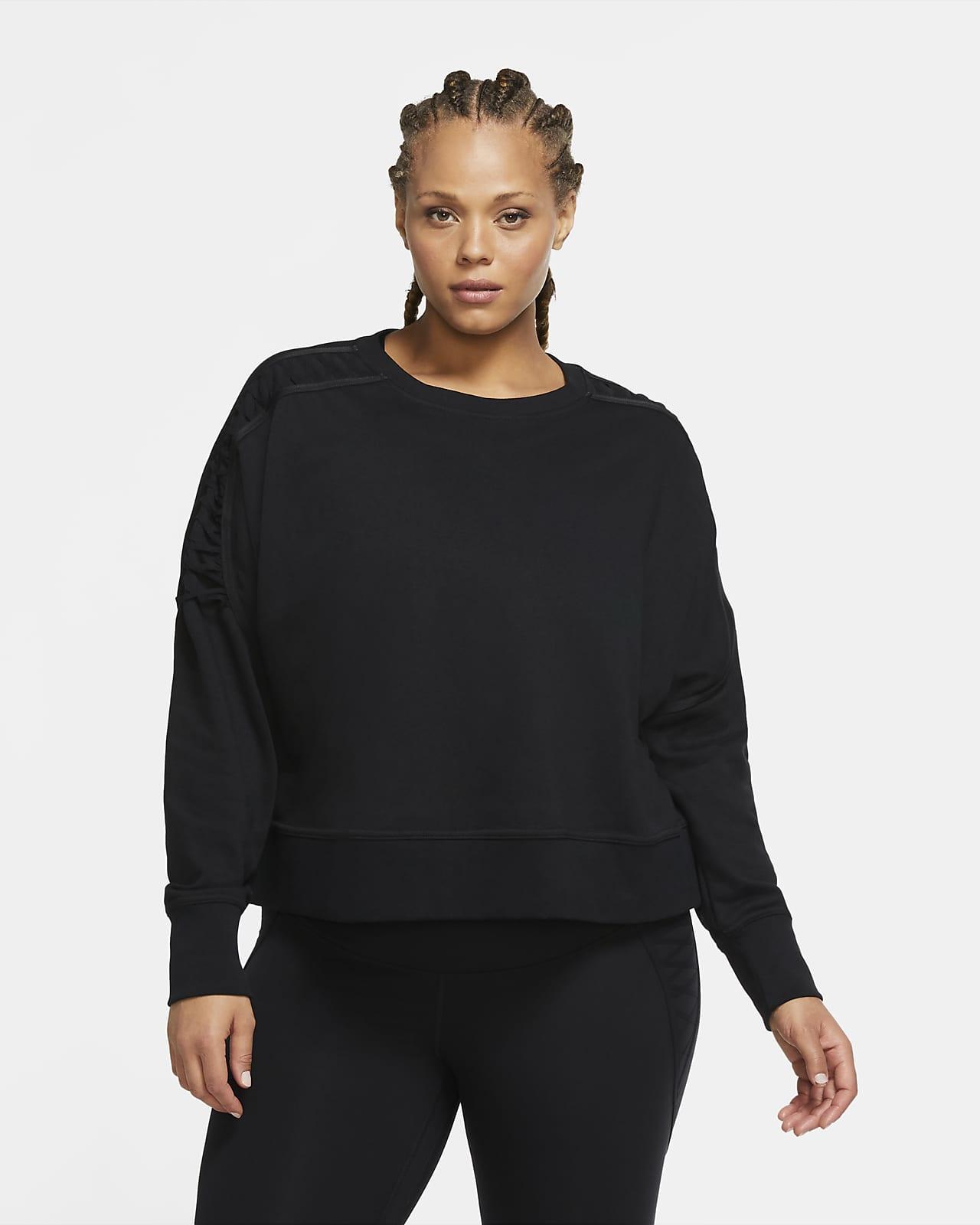 Haut court de training en tissu Fleece à lacet Nike Therma pour Femme (grande taille)
