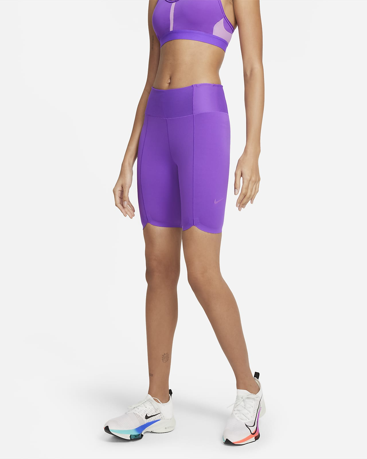 Shorts de 18 cm para mujer Nike One Luxe Icon Clash