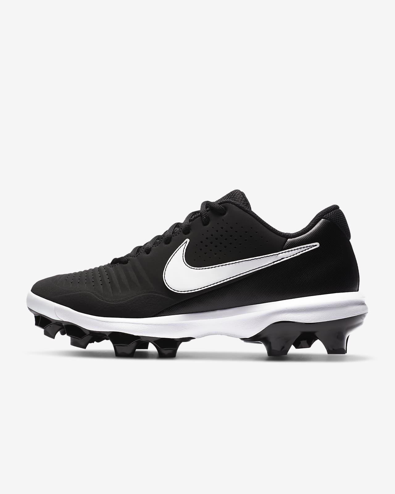 Baseball Cleats black//white Size 10 N-i-k-e